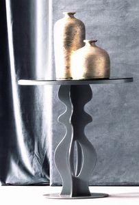 Jasper Art. 163, Table d'appoint en fer avec plateau en miroir fumé