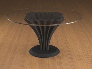 Liko, Table basse avec plateau en verre rond