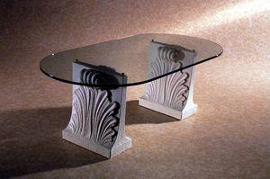 Loko, Table basse en pierre et verre