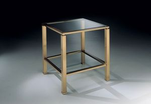 MADISON 3264, Carrée Table basse, laiton bronze antique