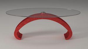 Mantus, Table basse avec plateau en verre
