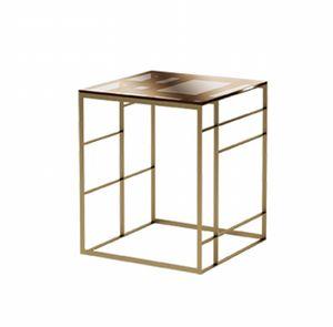 Matrix  Table d'appoint, Table en bronze métal et verre
