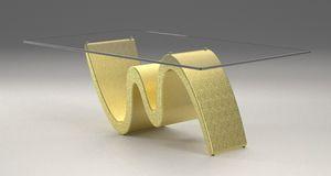 Morfeo, Table basse avec base effet pierre