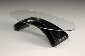 Narciso, Table basse avec plateau en verre