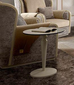 Oliver Art. OL16/55, Petite table avec plateau rond en verre bronzé