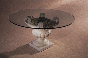 Palladio, Table basse avec base en pierre en forme de vase