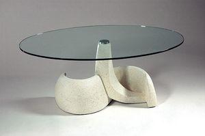 Poseidon, Table de style classique en pierre et verre