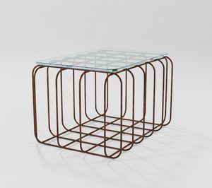 Prisma, Table basse rectangulaire avec base en fer