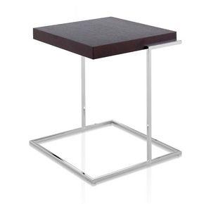 Servoquadro, Table basse avec plateau en bois haut, base en métal