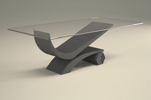 Silvio, Table basse finition graphite