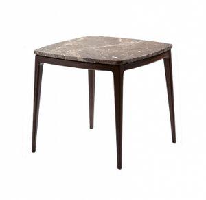 Table basse Indigo, Table basse carrée avec dessus en marbre