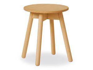 Table basse Tokyo, Simple table en bois de hêtre avec plateau en contreplaqué