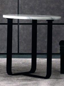 Tiago Art. 118-M, Table d'appoint moderne avec plateau rond