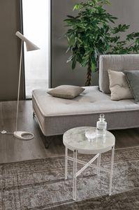 TWEET S TL510, Petite table ronde avec plateau en grès cérame