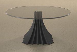 Zeus, Table basse avec plateau en verre rond