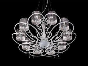 Aida chandelier, Lampe classique suspendu avec cristal Sw gouttes