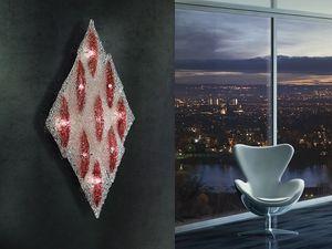 Alaska applique, Plafonnier Rhomboid, cadre en métal