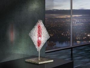 Alaska table lamp, Abat-jour en forme de diamant, pour les bureaux de style moderne