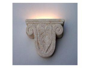 Ariete, Lampe de mur, forme de tête de bélier, en pierre