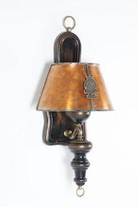 Art. SL 142, Applique avec abat-jour en cuivre vieilli