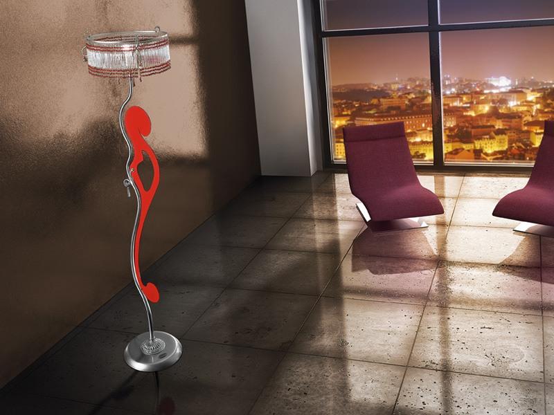 Casanova floor lamp, Lampadaire avec des lignes sinueuses, différentes finitions