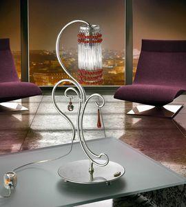 Casanova table lamp, Lampe en métal forgé à la main, par des bureaux modernes