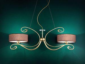 Charme applique, Lampe murale classique en métal forgé artisanal