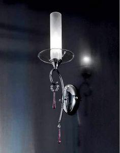 Sinfonia applique, Applique avec pendentifs en verre et des cristaux Sw
