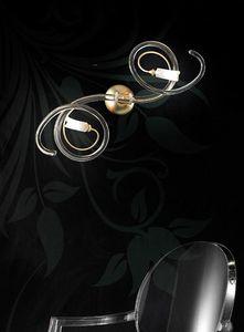 Chic applique, Applique moderne avec des rouleaux souples en verre de Murano
