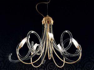 Chic chandelier, Lustre avec diffuseurs faite entièrement à la main