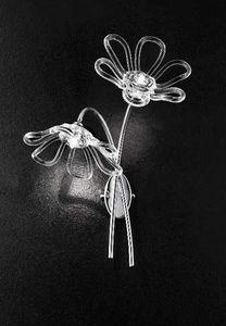 Daisy applique, Applique avec deux lumières et base en métal chromé