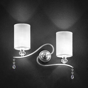 Delhia applique, Lampe de mur en métal avec 2 feux et pendentifs sw