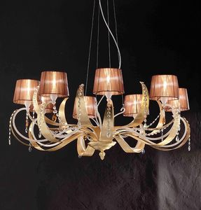 Erica ceiling lamp, Suspension en fer avec 8, style moderne lumi�re