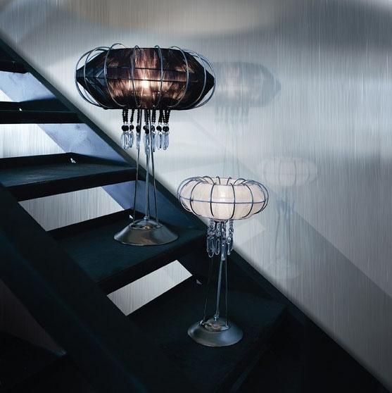 Full Moon table lamp, Lampe avec structure en métal, différentes finitions