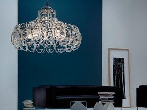 Gemini chandelier, Suspension avec 9 lumières pour chambres modernes