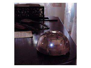Giunone, Noyer lampe avec lumière LED centrale
