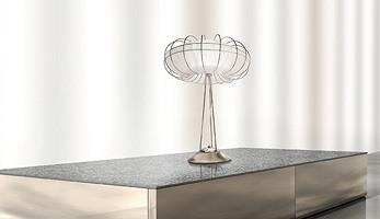 Moon table lamp, Lampe de table avec des lignes épurées et minimalistes
