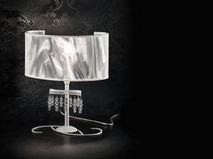 Onda table lamp, Lampe de table avec diffuseur en fibre de carbone