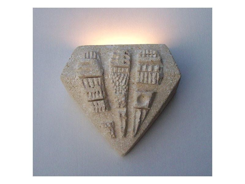 Pegaso, Lampe de mur en pierre, lumière halogène