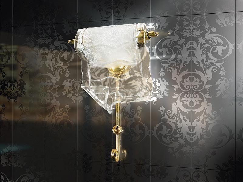 Poeme applique, Lampe de mur de métal forgé, Restaurant contemporany