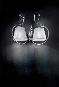 Romantica applique, Applique avec structure en métal chromé