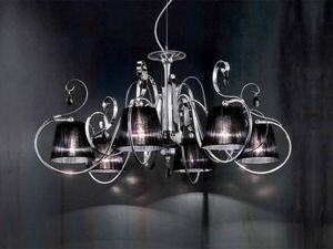 Romantica chandelier, Lustre avec des diffuseurs en organza, style classique
