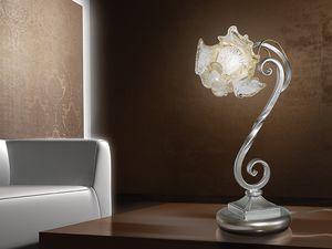 Rose table lamp, Lampe de table de style naturaliste, pour les bureaux modernes