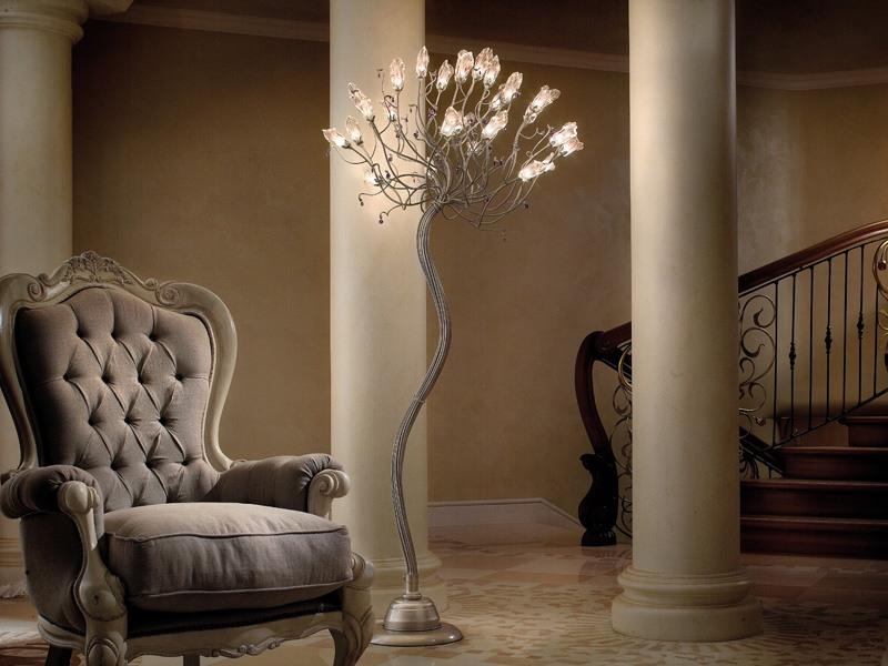 Soffio floor lamp, Lampadaires en fer et en verre, différentes finitions