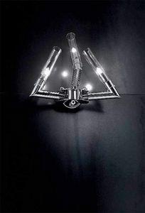 Stark applique, Applique avec structure en métal chromé