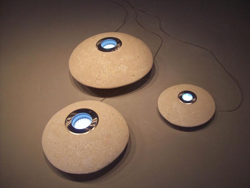 UFO LED, Lampe d'extérieur en pierre, lumière LED