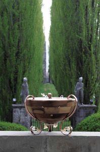 Venere, Lampadaire de la sphère de la moitié, décoré avec verre de Murano