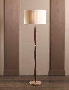AMMOS HL1006WFL-1, Lampe au sol en laiton avec abat-jour