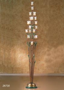 Art. 26730 Butterfly, Lampadaire avec des fleurs décoratives en verre de Murano