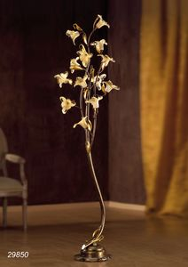 Art. 29820 Jolie, Lampadaire avec des décorations en verre floral